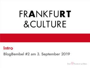 Präsentation zu Frankfurt & Culture beim zweiten BlogBembel